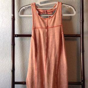 Intimately Free People Orange Bodycon Halter Dress